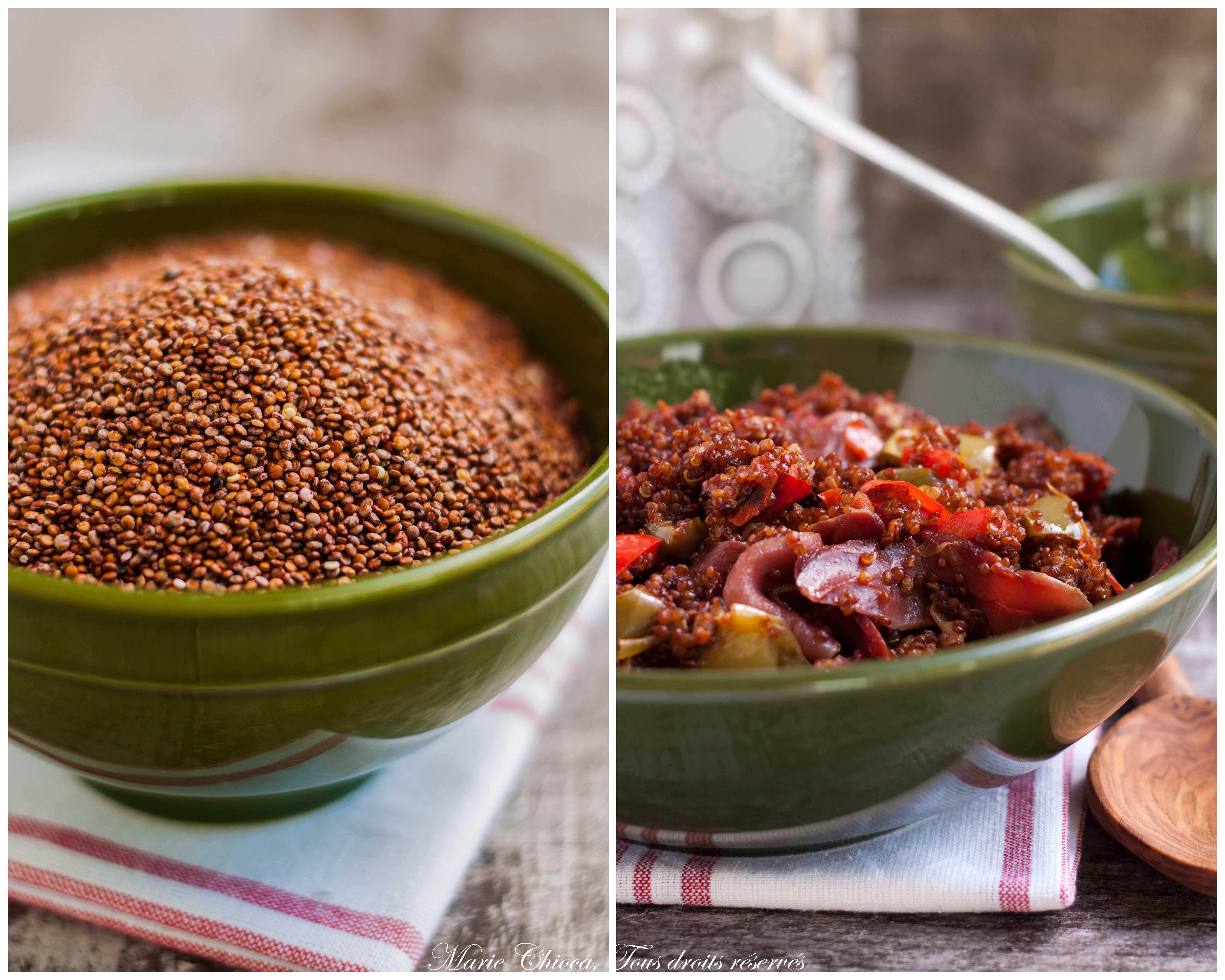 quinoa rouge à la piperade-2