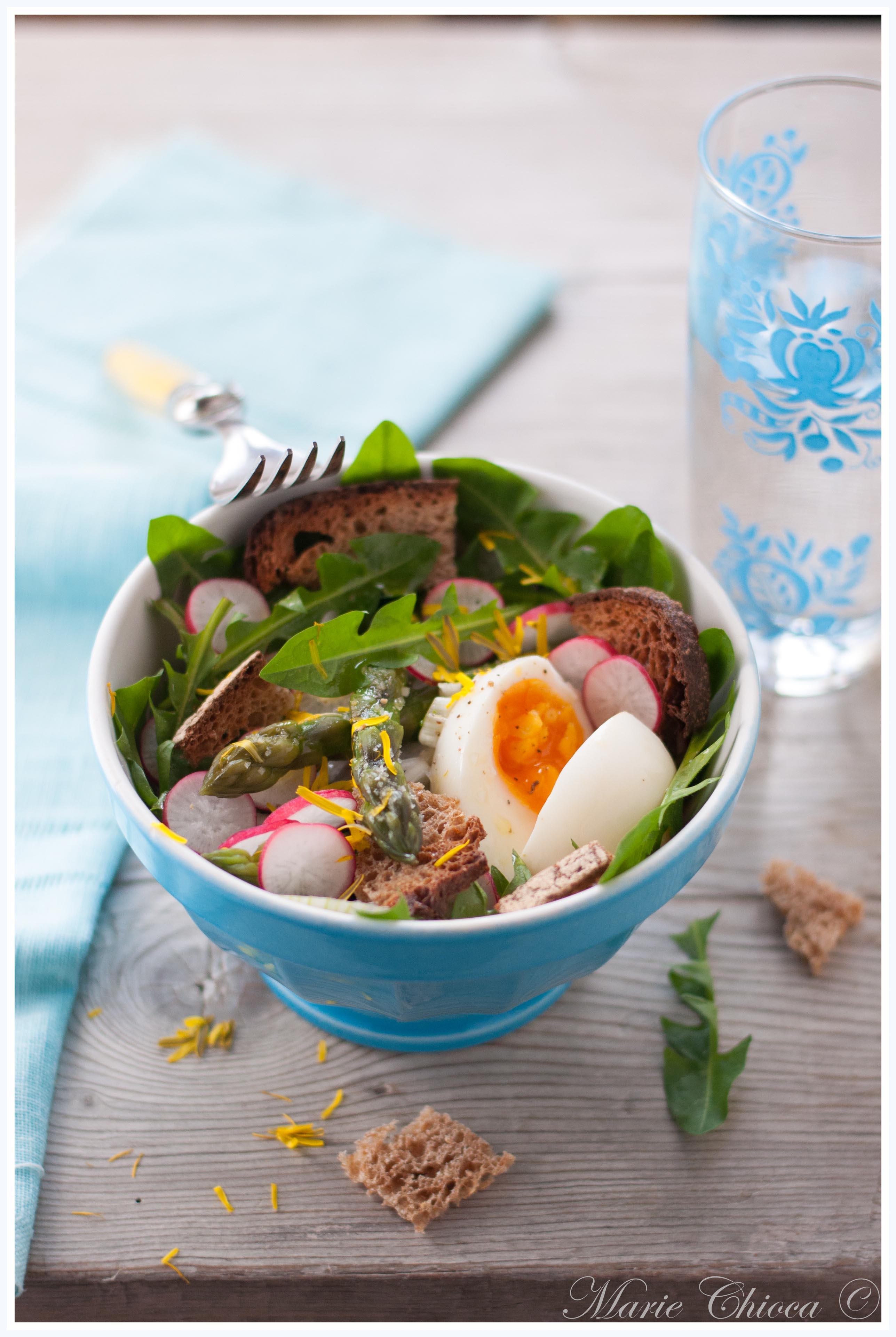 Salade printanière au pissenlit-2
