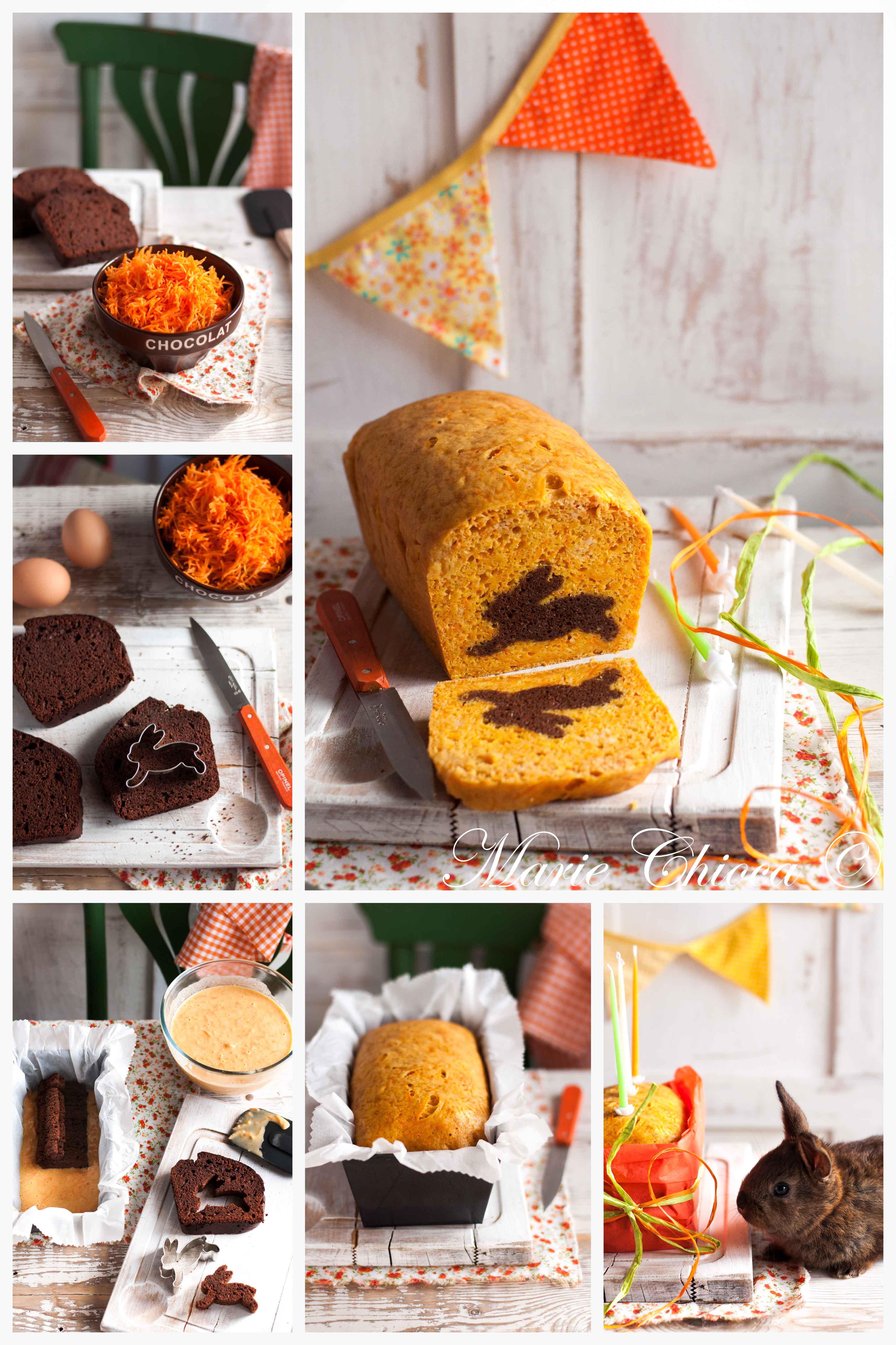 Carrot-cake surprise montage pas à pas