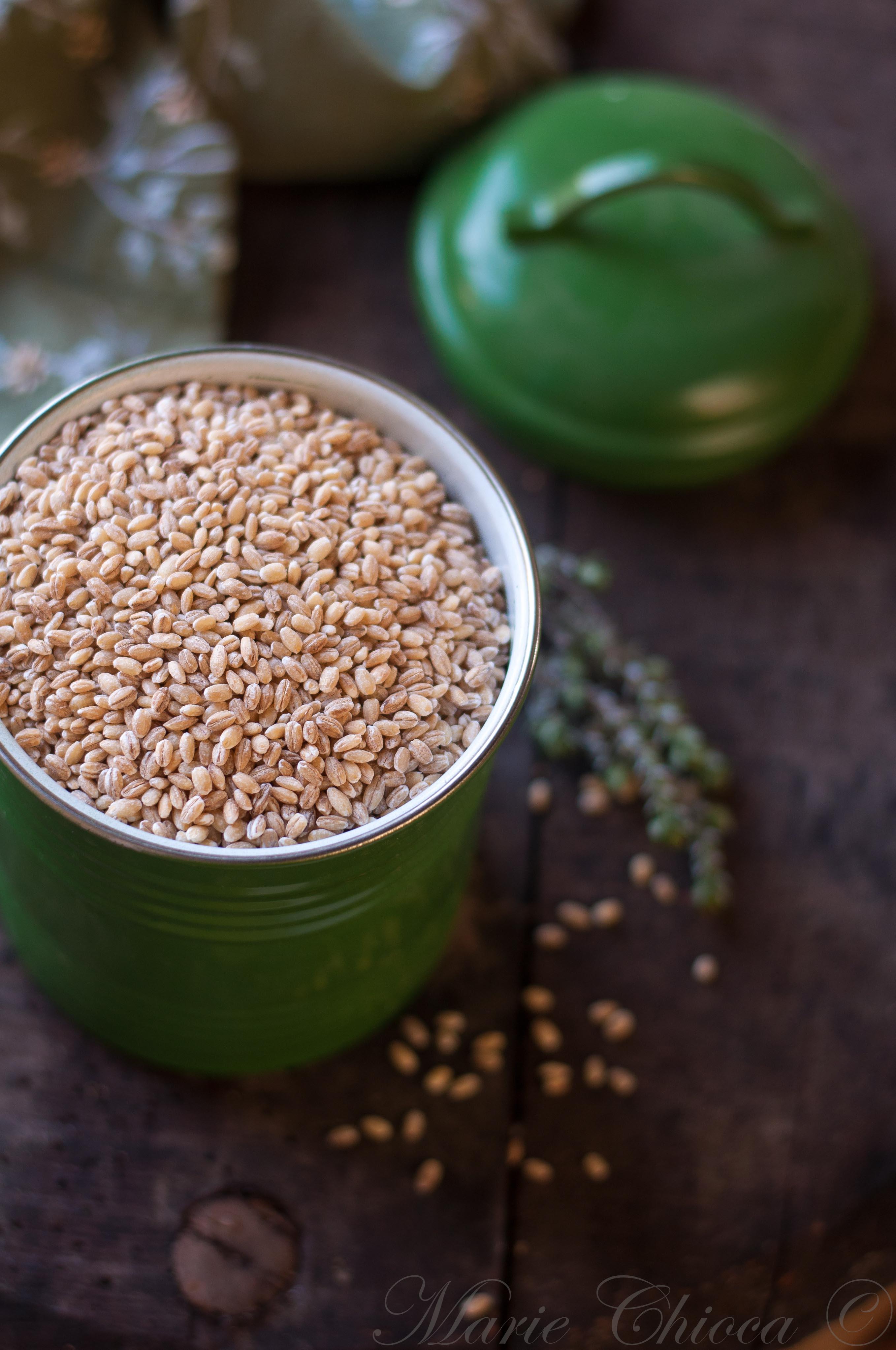 Orge mondé en grains