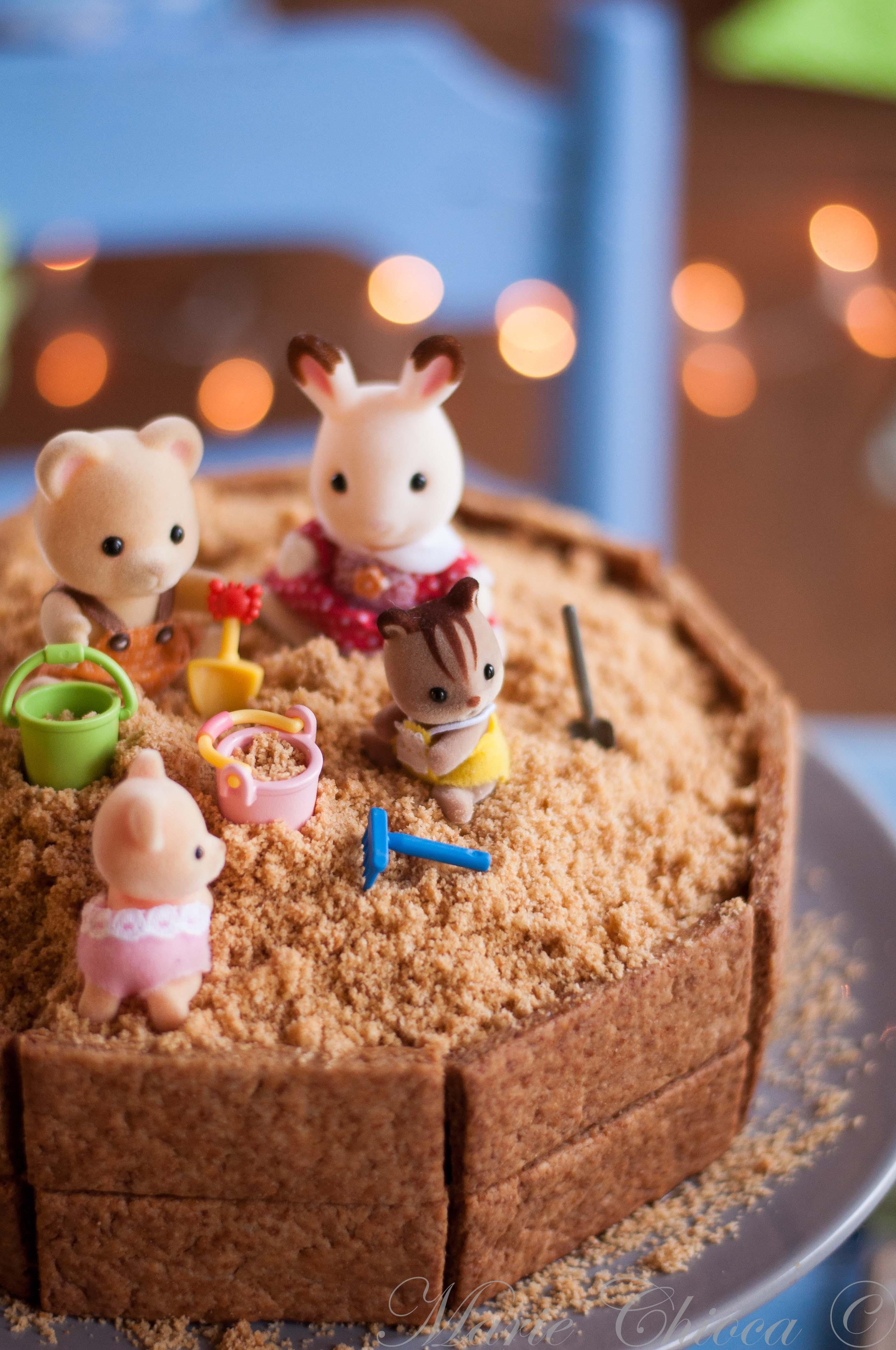 Gâteau Bac à sable, détail