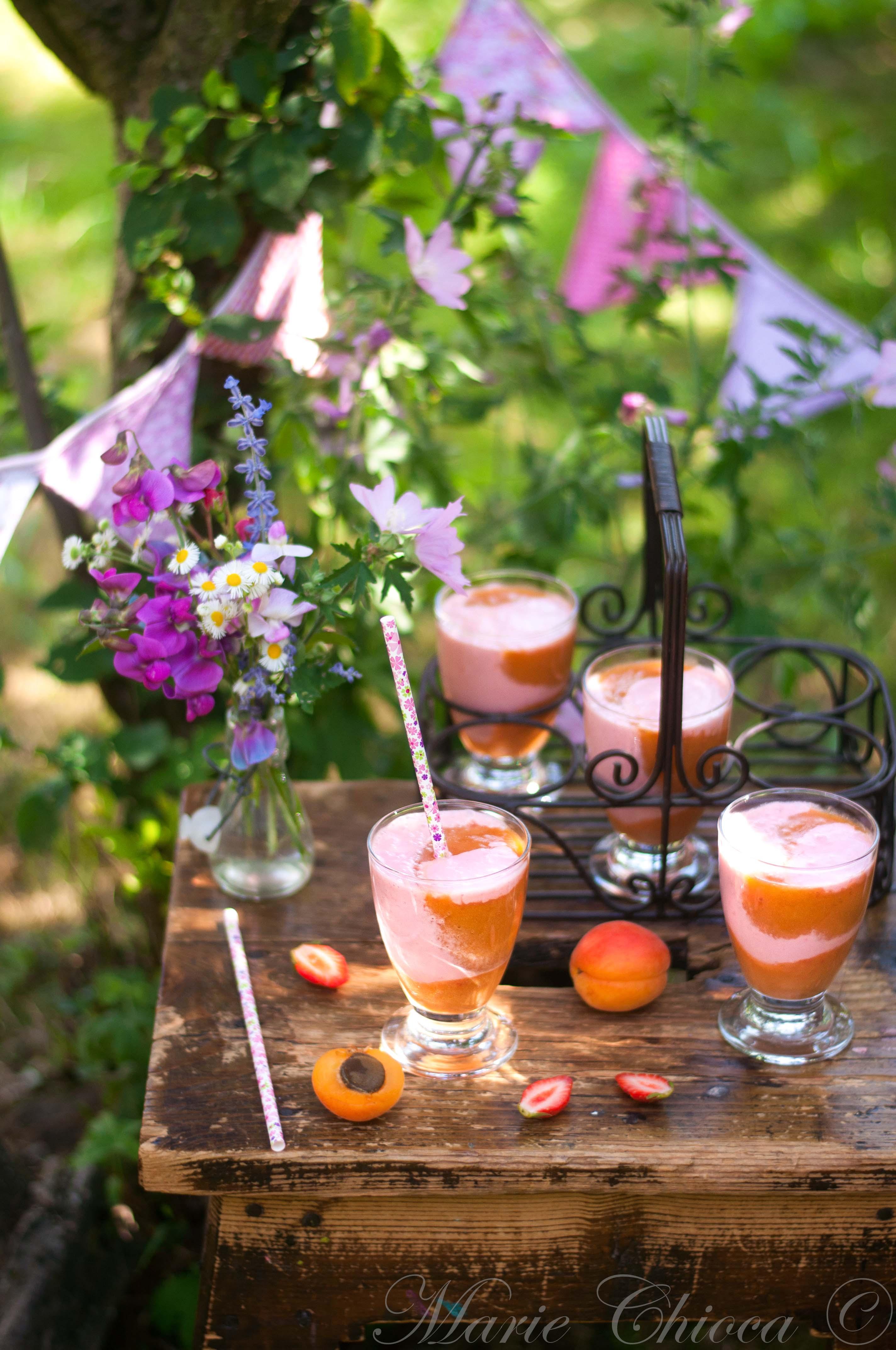 Yaourt à boire aux fruits crus