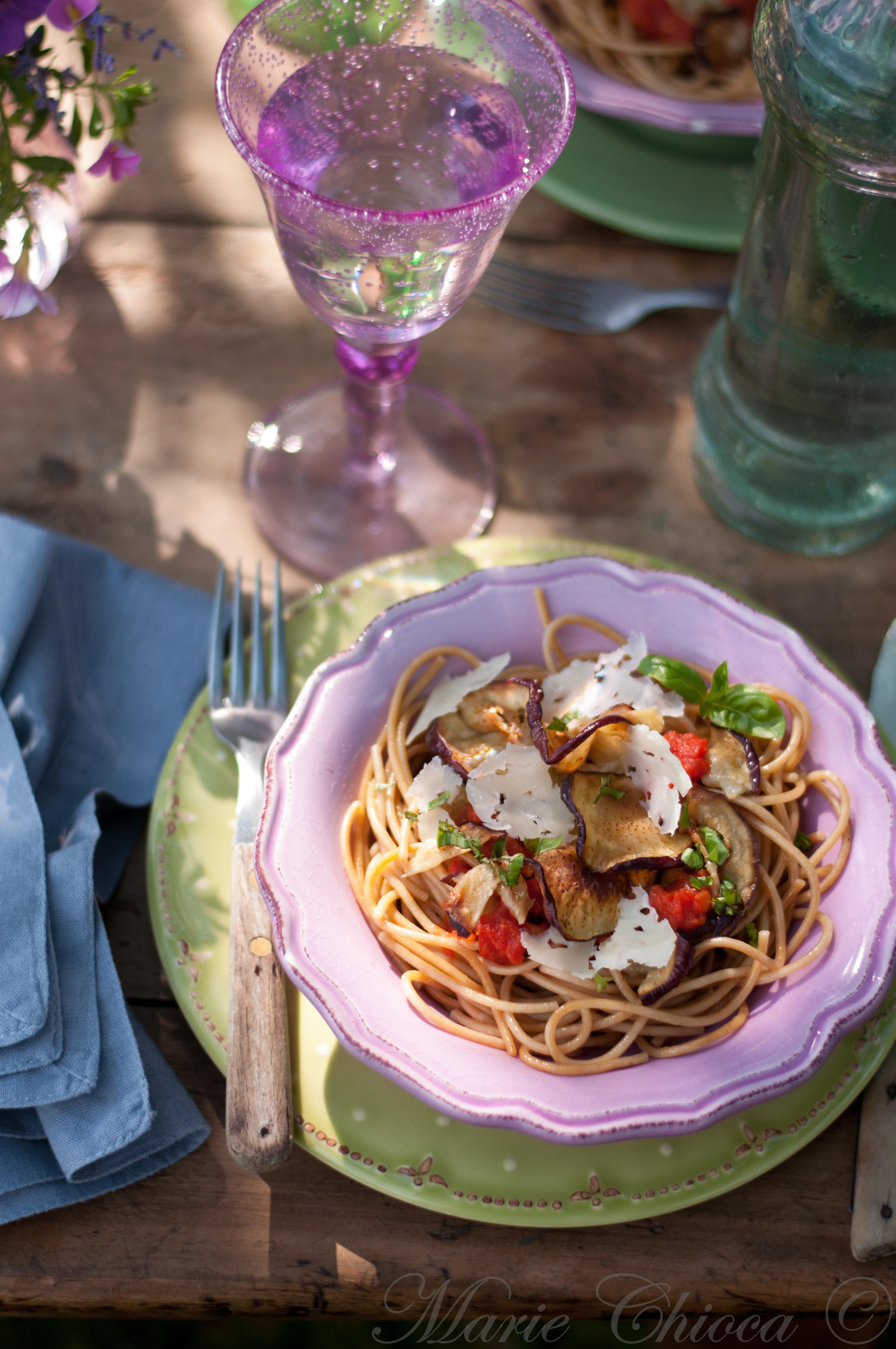 Spaghetti d'épeautre alla norma 3