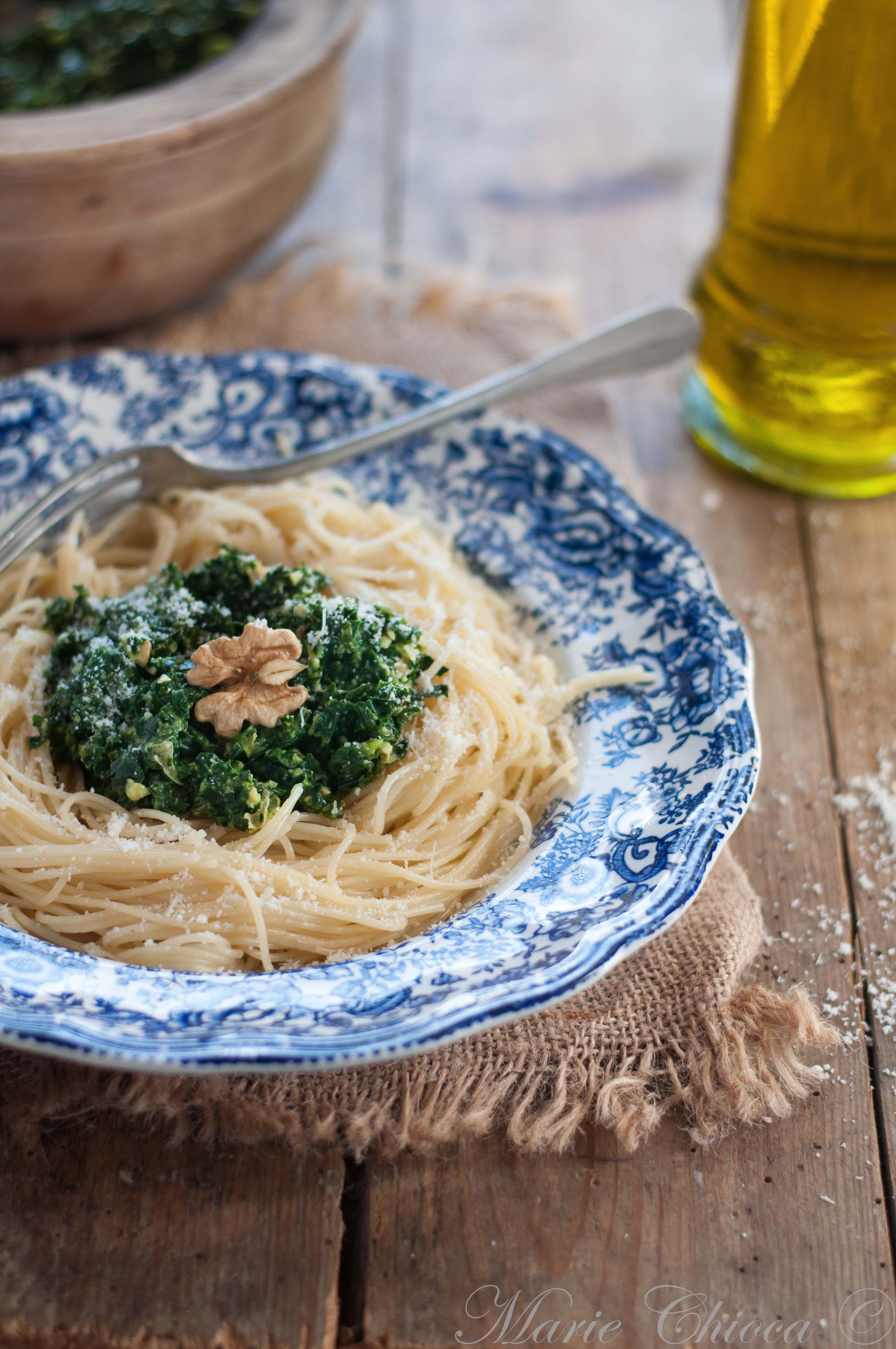 Spaghettis au Pesto de Cavolo Nero 5