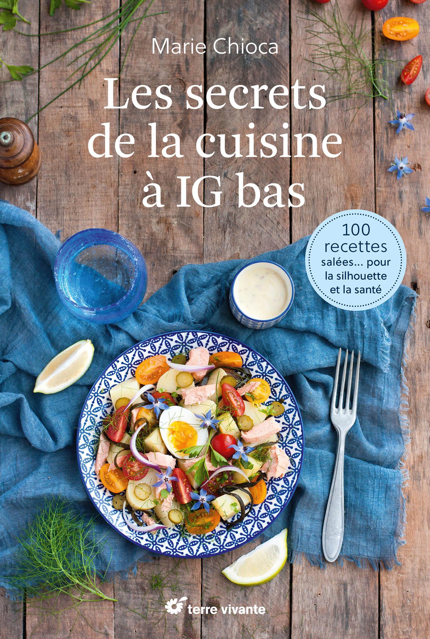 Couverture Livre Les secrets de la cuisine à IG bas