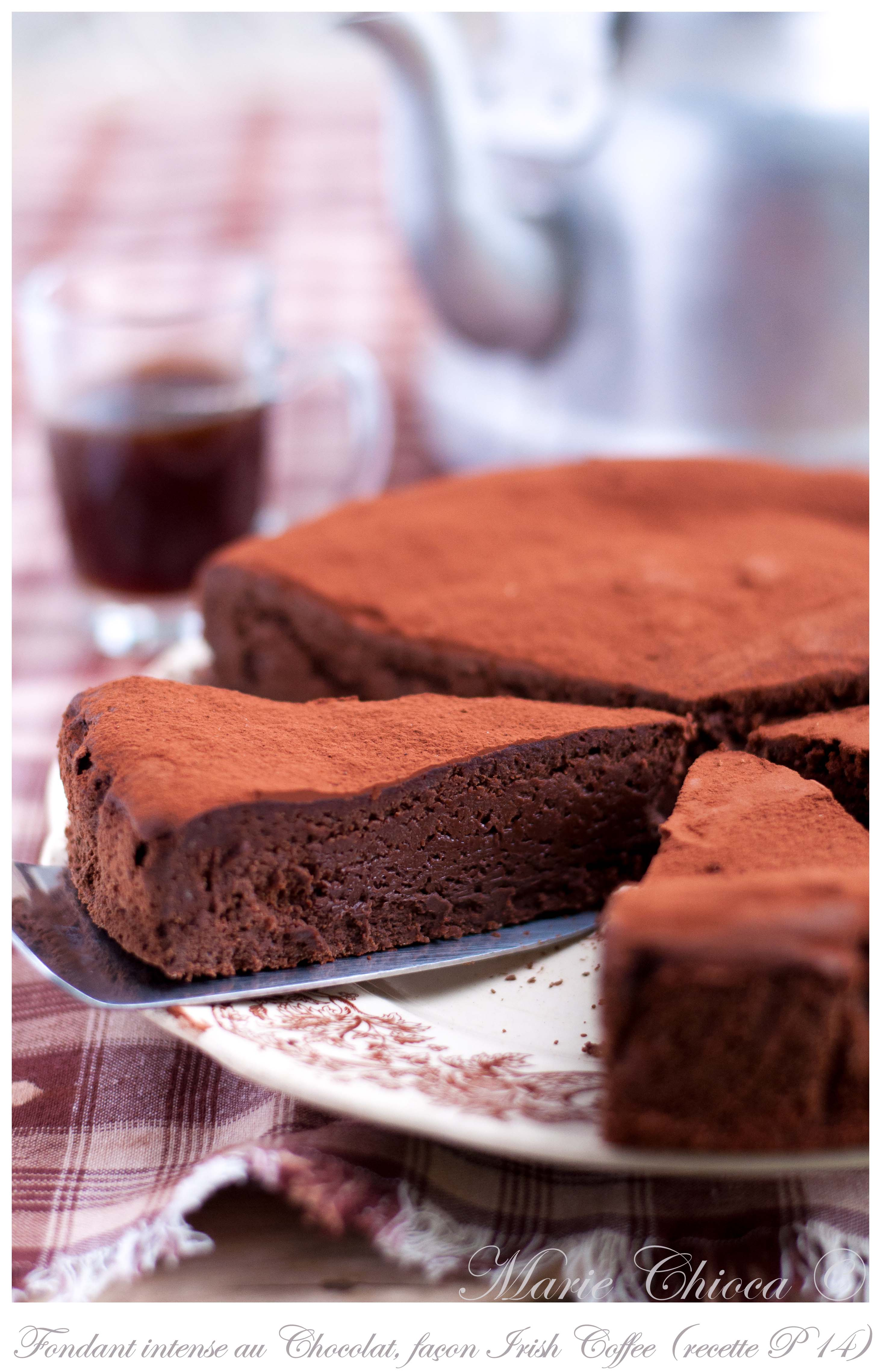 Fondant au chocolat très intense façon irish coffe-2