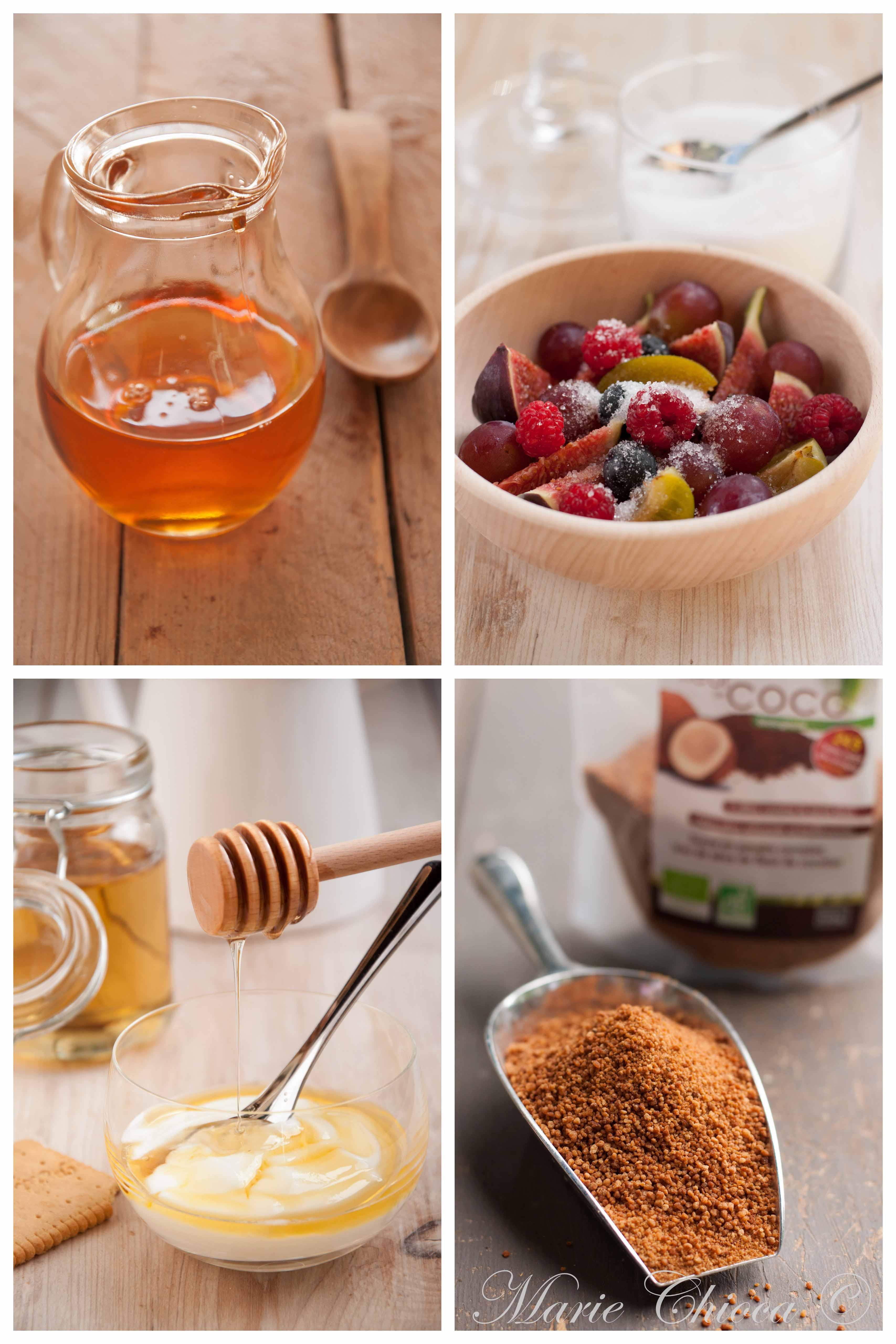 Le sirop d'agave, le sucre de bouleau, le miel d'acacia et le sucre de coco, 4 alternatives possibles pour remplacer le sucre dans un dessert
