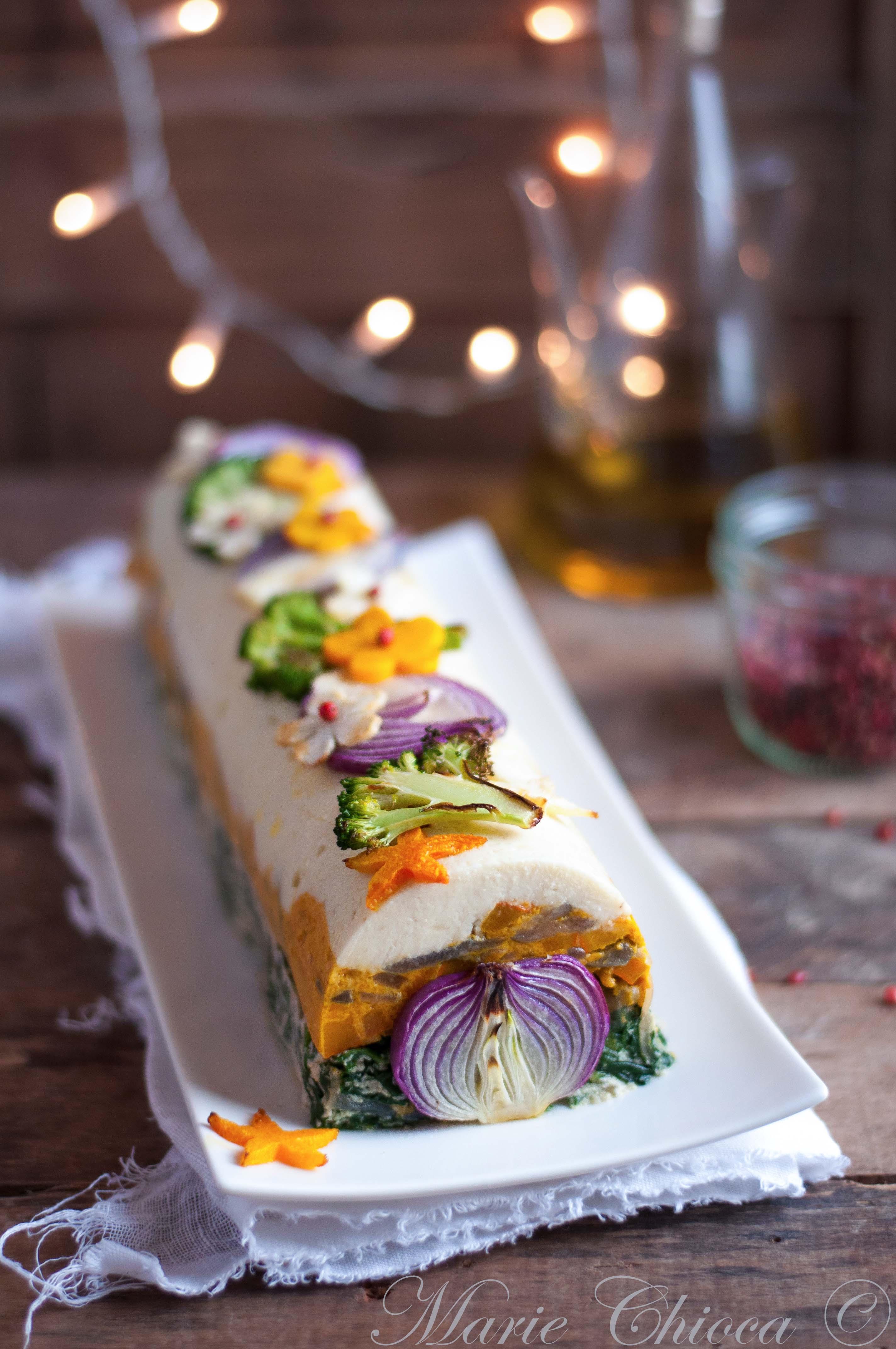 Bûche salée aux légumes 1