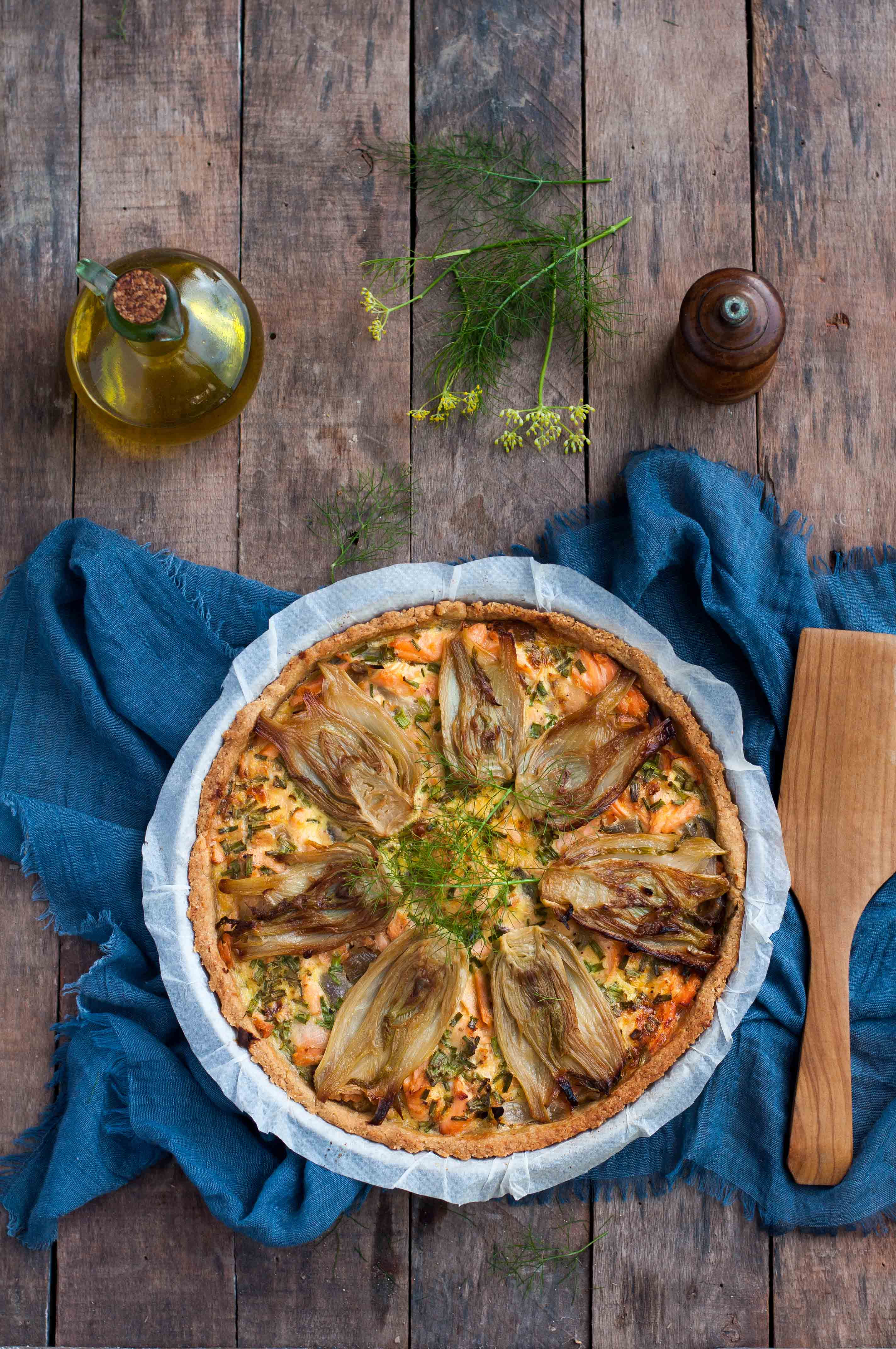 Tarte saumon sauvage et fenouils IG bas